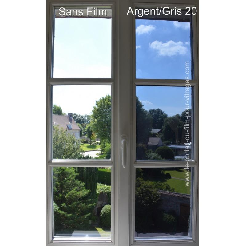 Argent gris for Miroir sans tain