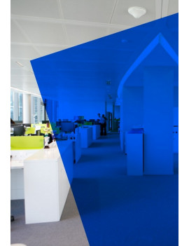 Film couleur bleu