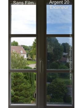 Argent 20 Extérieur : Film anti-chaleur et anti-éblouissement pose extérieure