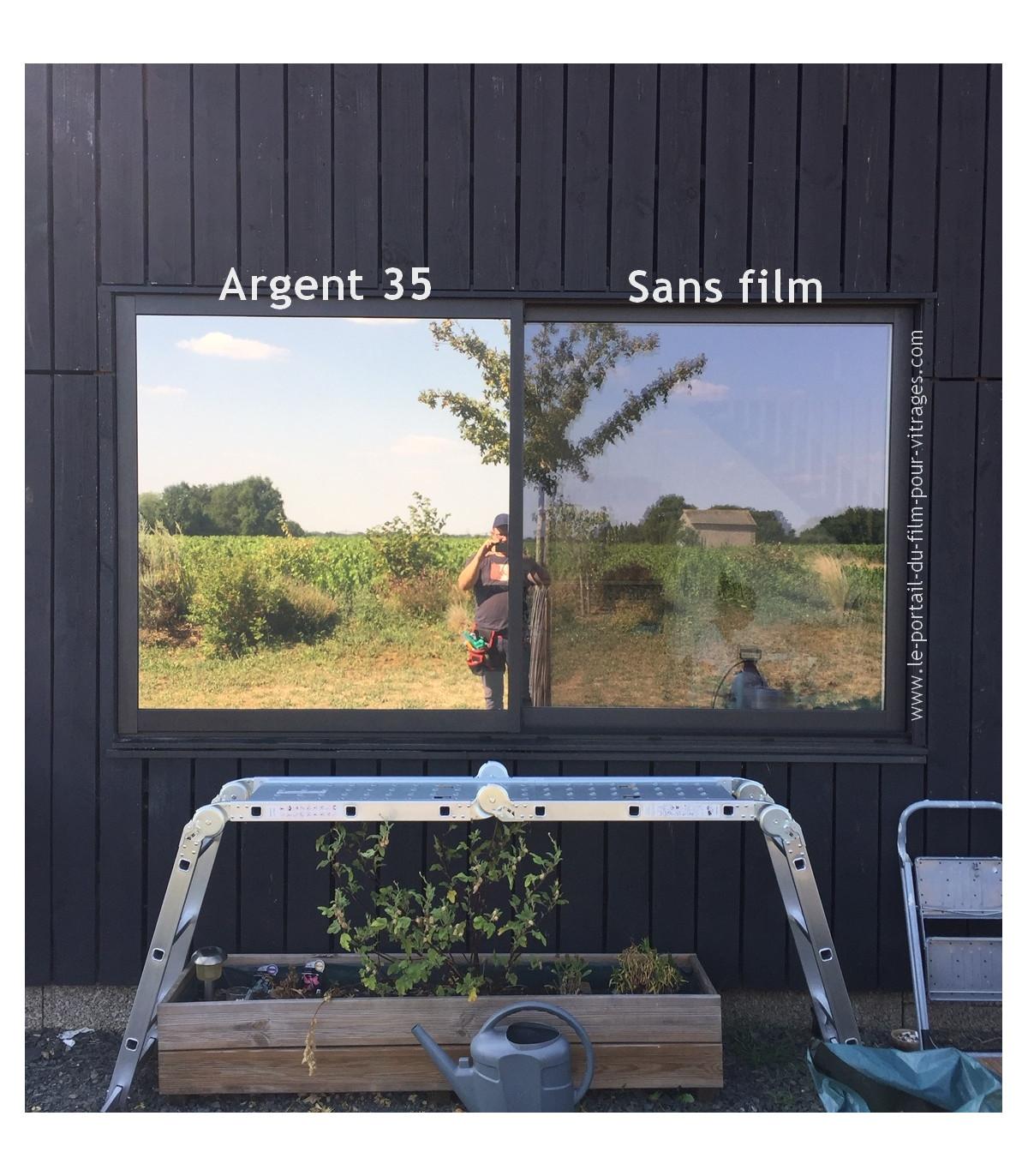 Argent 35 Solaire Protection Anti Uv Anti Chaleur